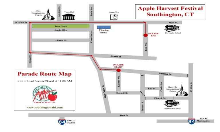 Apple Harvest Festival Parade Route Map